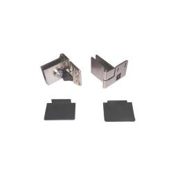 Петля д/стекла угловая, сатин (04-34-003)