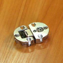 Петля барная с регулировкой (никель)   (120105)/(342.66.730)