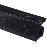 Плинтус столешницы Rehau 118 Гранит черный  L=4,2м (16027971001)