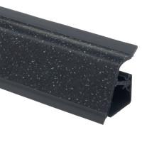 Плинтус столешницы Rehau 118 Звездная пыль черная L=4,2м (16044781001)