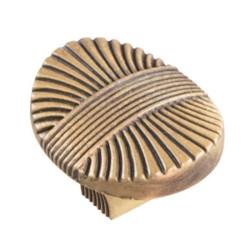 Ручка-кнопка, атласная бронза 27мм                         (RK-075-27мм) (55189)
