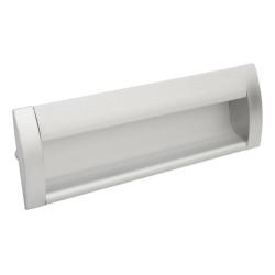 Ручка врезная алюминиевая 128мм заглушки  мат.хром