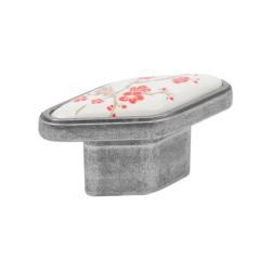 Ручка-кнопка, керамика античное серебро Virno Azure          102D WTC A21(57579)