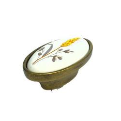Ручка-кнопка, керамика бронза ЦВЕТЫ тип 2            (1-516-001) Аналог Р1457