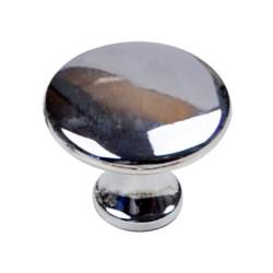 Ручка кнопка большая  хром                                                  Идеа (5394)