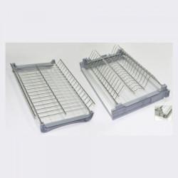 Сушка для посуды 700 мм нержавеющая сталь с каркасом и одним поддоном (670)