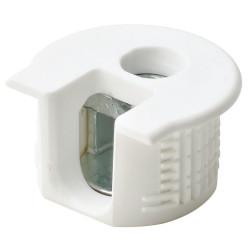 Рафикс для ДСП 16 мм   пластмасс, БЕЛЫЙ   D20/H 12.7    HAFELE  (263.10.703)