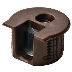 Рафикс для ДСП 16 мм   пластмасс, КОРИЧНЕВЫЙ   D20/H 12.7   HAFELE   (263.10.103)