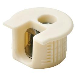 Рафикс для ДСП 16 мм   пластмасс, КРЕМ   D20/H 12.7   HAFELE   (263.10.403)