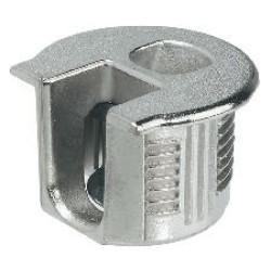 Рафикс для ДСП 16 мм   цамак, никель  D20/B 12.7,   HAFELE    (263.11.703)