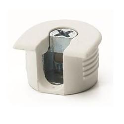 Рафикс для ДСП 16 мм   пластмасс, БЕЛЫЙ   D20/H 12.7         Hettich   (9064890)