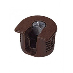 Рафикс для ДСП 16 мм   пластмасс, КОРИЧНЕВЫЙ   D20/H 12.7         Hettich   (9066718)