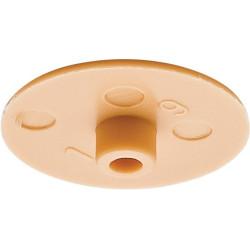 Заглушка для стяжки MINIFIX D15мм пластик.,беж         Hafele(262.24.055)