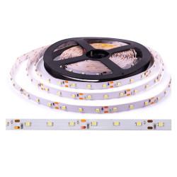 Светодиодная лента 3528, теплый белый, без силикона 12 В, 4,8 Вт/м (60 диод/м)