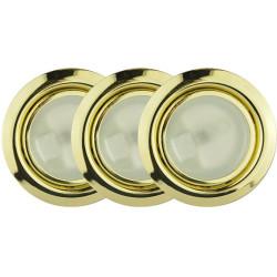 Подсветка галоген на 3 лампы, золото (комплект)