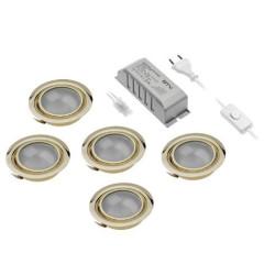 Подсветка галоген на 5 ламп, золото  GTV (ОМ- ZH-5200-60 GTV)