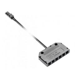Разветвитель 6 гнезд черный мини+2м кабеля  GTV