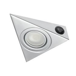Светильник треугольный ОРТ-20S хром с включателем  GTV ОМ-ОРТ20S-40