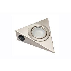 Светильник треугольный с лампой С42+S, сатин (050) с выключателем