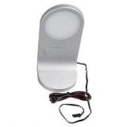 Свет-к FC-LED325-1 сенс. выкл. 4,8Вт, 12В,3200К, вх:1,5м кабель LED коннект. папа серебр.