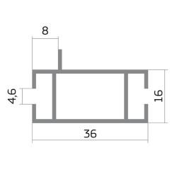 Торговый профиль, средний  Z- 578 6м С1-03