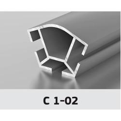 Торговый профиль, угловой 135*  Z-557 (6 м) С1-02