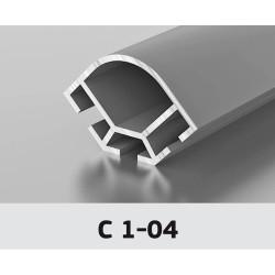Торговый профиль, угловой 90*  Z-556 матовый хром, 6м  С1-04