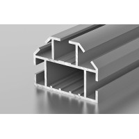 Торговый профиль, угловой для стекла/панелей 4-5мм матовый хром, 6м  С1-10