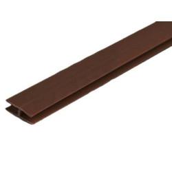 Профиль стыковочный д/ДВП 2 м коричневый/венге             МФ(679)