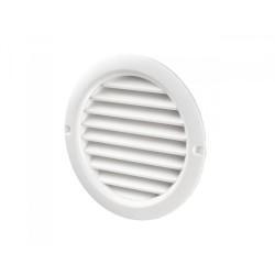 Решетка вентиляционная пласт., белая  d 34 мм