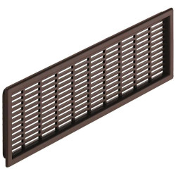 Решетка вентиляционная пласт., коричн 41*175мм,  Hafele   (571.55.530)
