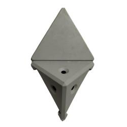 Уголок монтажный угловой  2 п/м серый  (1-0036-26 Т)