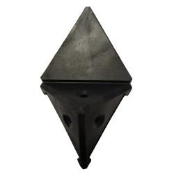 Уголок монтажный угловой  2 п/м черный (1-0036-8 Т)